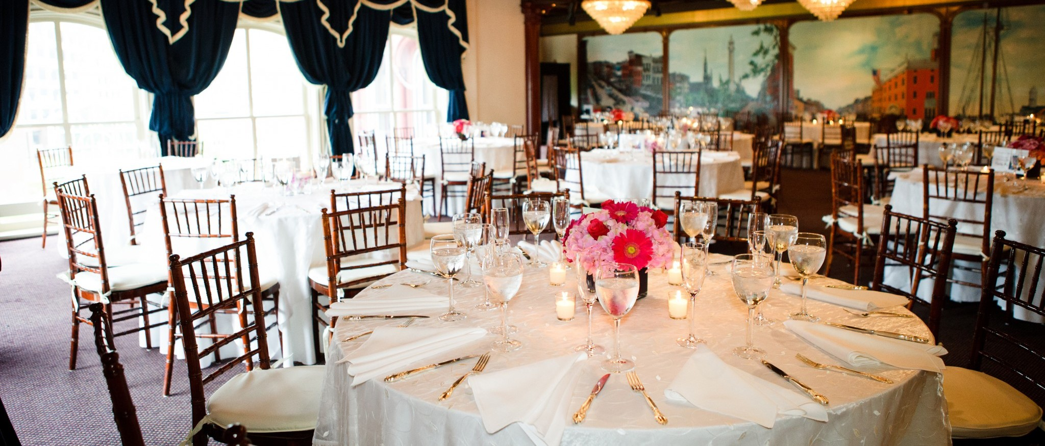 Wedding Reception Set-up in 1840s Ballroom