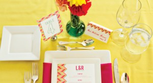 Herringbone-Pattern-Wedding-Table_setting