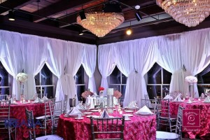 Ballroom White Curtains