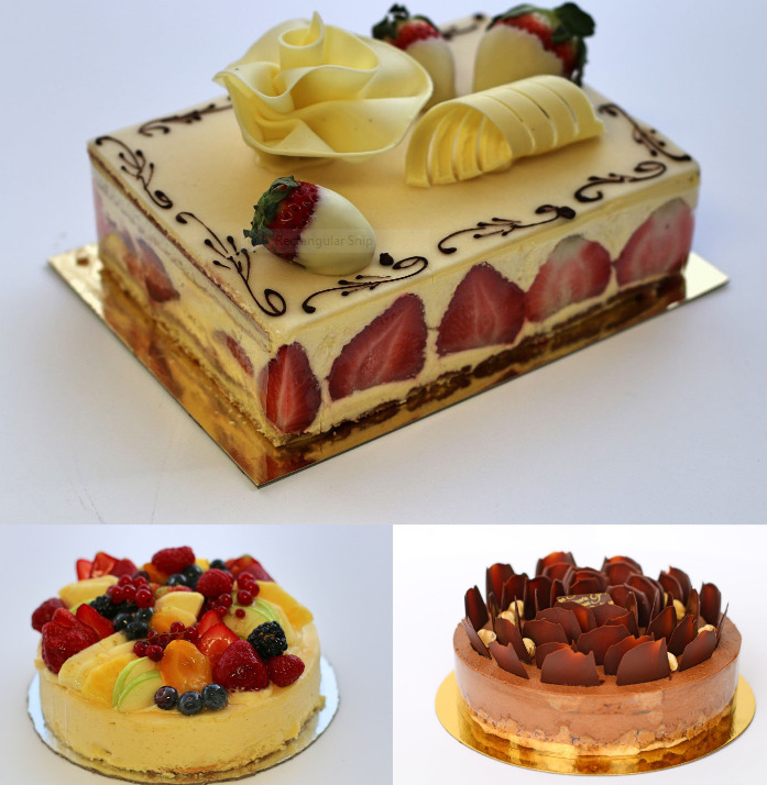 Cakes from patisserie poupon